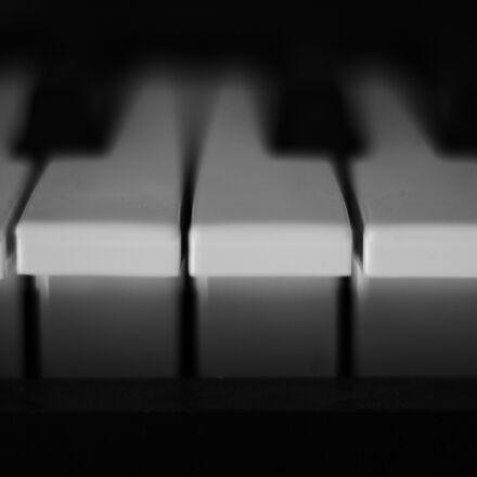 piano, keys, white, Canon EOS 1300D