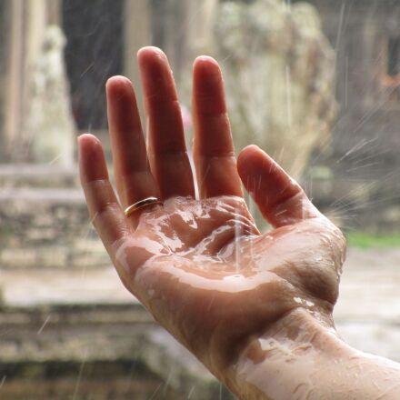 hand, rain, zen, Canon IXUS 155