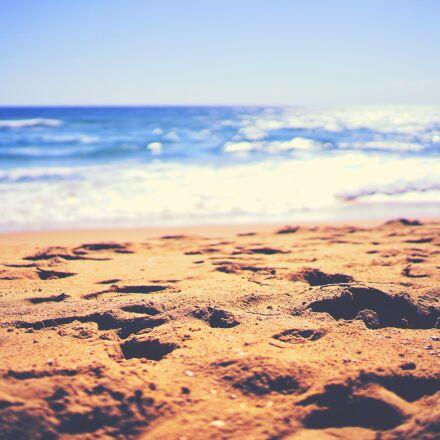 beach, ocean, sand, Sony ILCE-7M2