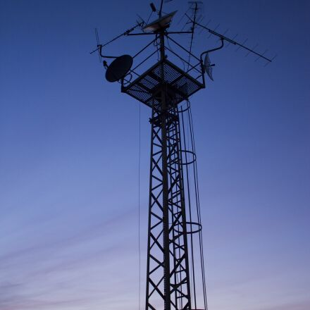 antenna, night sky, sky, Canon EOS 550D