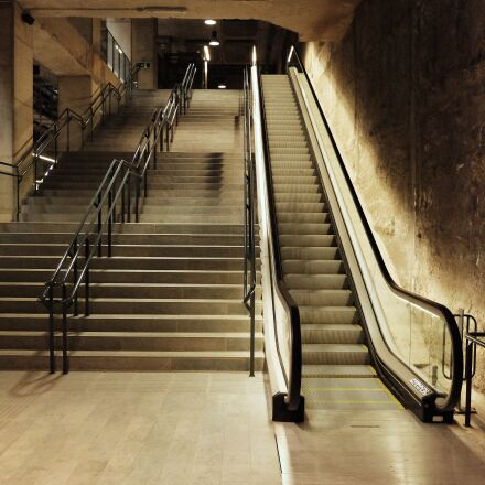metro, ladder, wall, Fujifilm X-T1