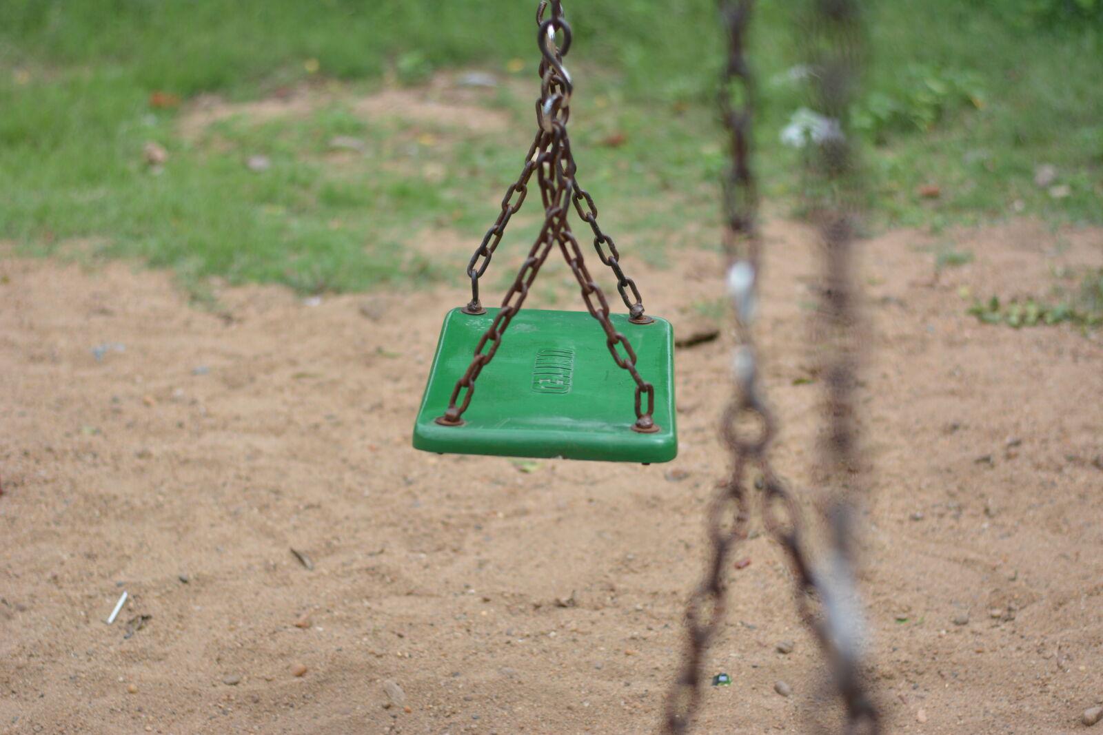 "Nikon D5200 sample photo. ""Empty, swing, on, park"" photography"