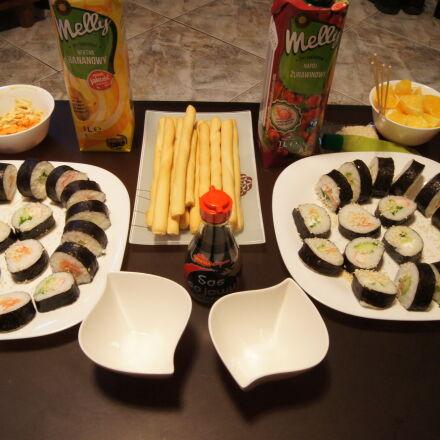 eat, fish, juice, sushi, Sony DSLR-A550