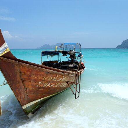 beach, ocean, thailand, Sony DSC-W510