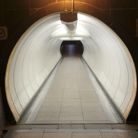 tunnel, walkway, corridor, Canon EOS 550D
