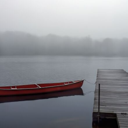 lake, fog, water, Fujifilm FinePix J110W