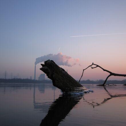 sunset, winter, geforener, Canon POWERSHOT A1200