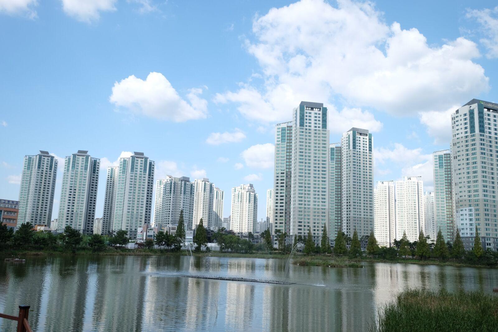 "Fujifilm X-T1 sample photo. ""Incheon, the future, lake"" photography"