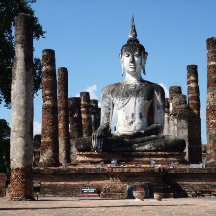 sukhothai, thailand, temple, Fujifilm FinePix F100fd