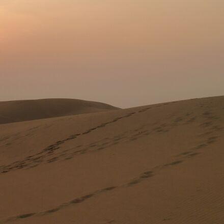 desert, sunset, nature, Panasonic DMC-ZS7