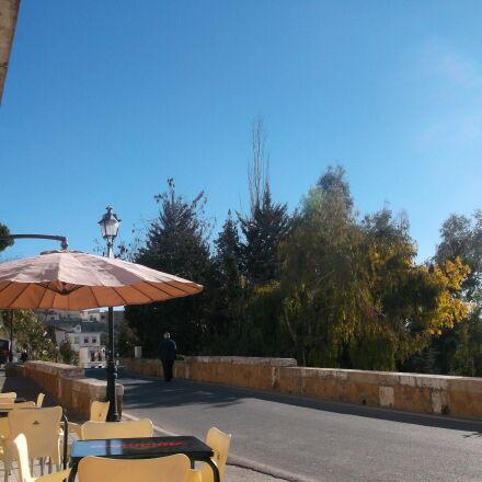 blue, sky, hot, landscape, Fujifilm FinePix AX550