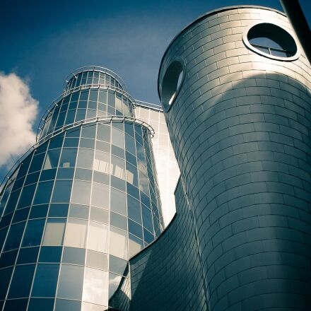 warsaw, building, glass, Canon EOS 50D