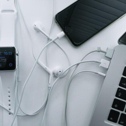 laptop, iphone, watch, Nikon COOLPIX S3700
