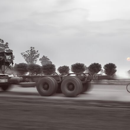 truck, bike, race, Panasonic DMC-GF2