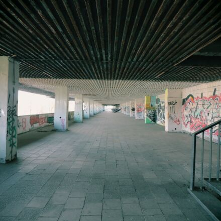 underpass, stadium, abandoned, Canon EOS 750D
