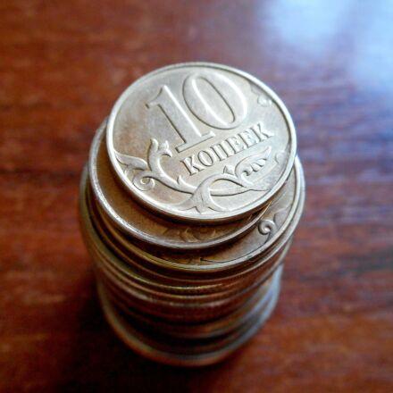 coins, kopek, currency, Nikon COOLPIX S3600