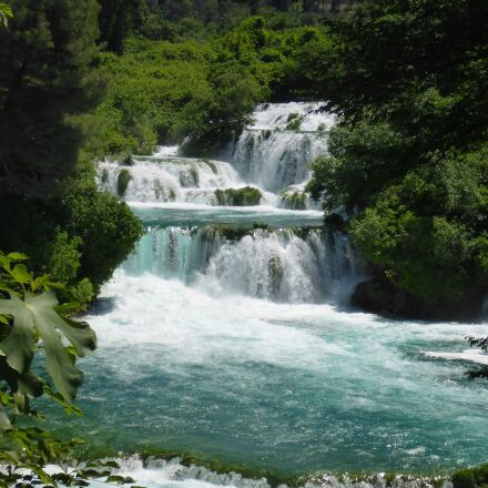 croatia, river, waterfall, waterfalls, Panasonic DMC-FT5