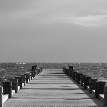 sea, clouds, cloudy sky, Canon EOS 700D