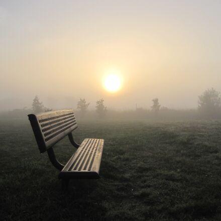 sunrise, dawn, fog, Canon POWERSHOT SD880 IS