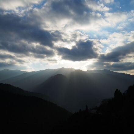 sunbeams, landscape, light, Olympus E-M5