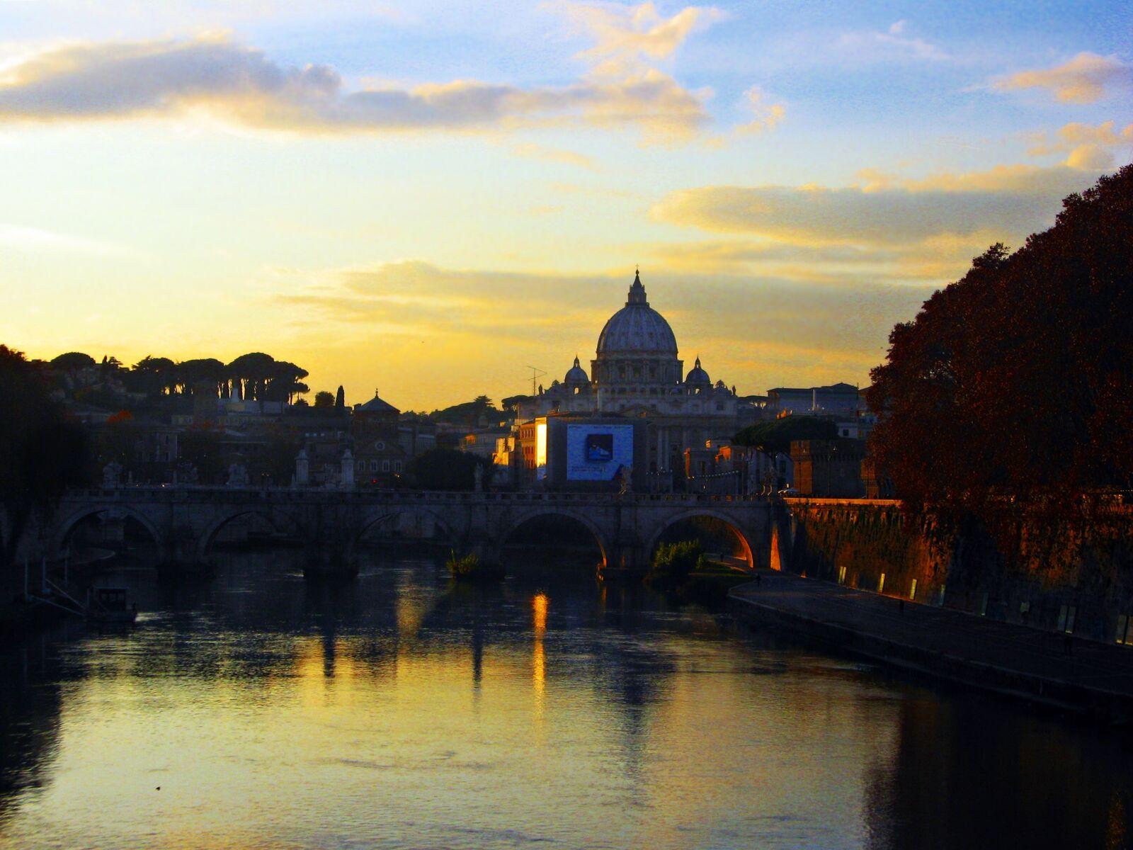 clouds, ponte, romana, reflexos