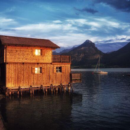 salzkammergut, lake wolfgang, house, Panasonic DMC-GF2