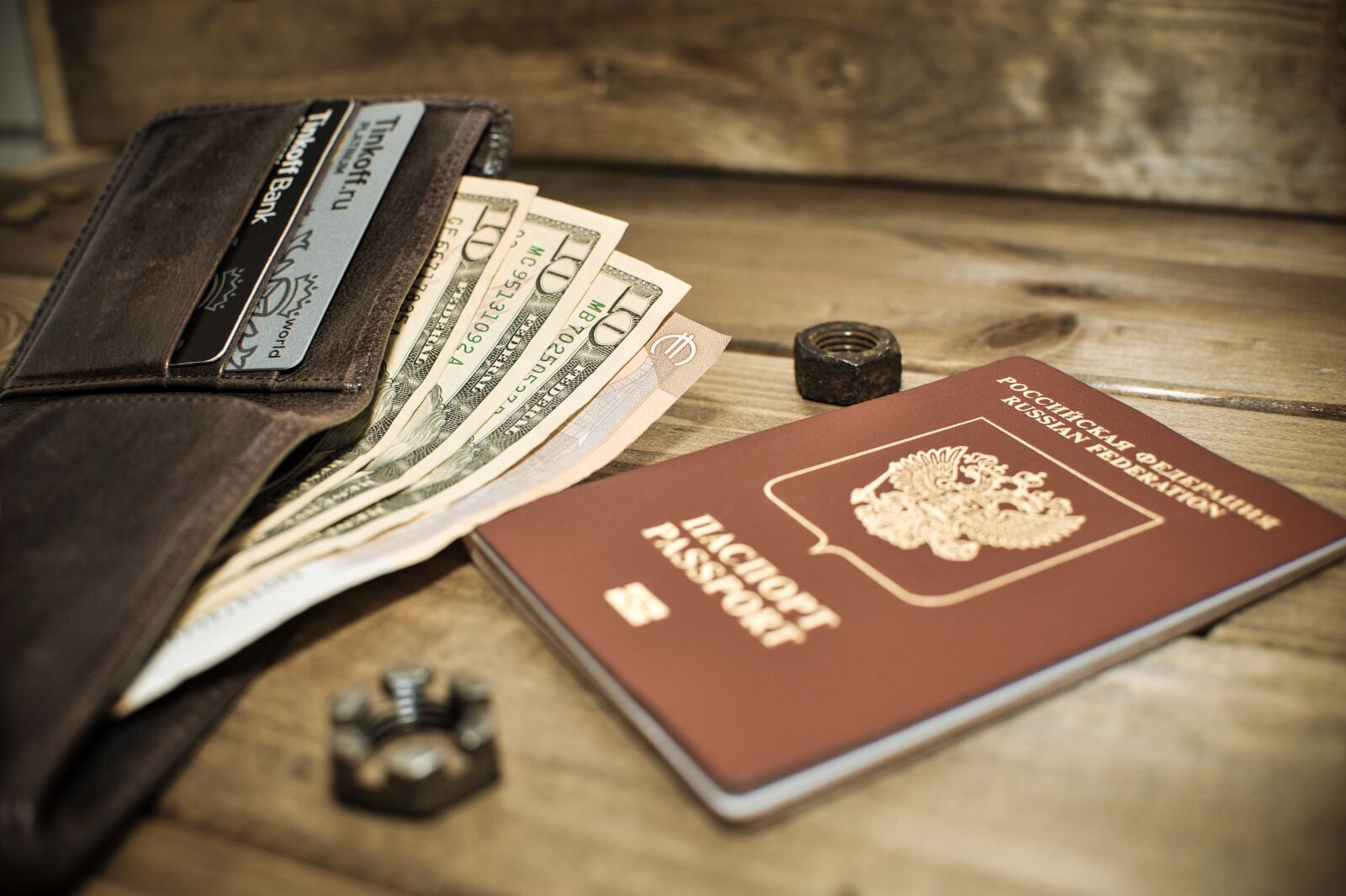 "Nikon D700 sample photo. ""Passport, dollar, background"" photography"