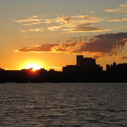 sunset, river, cambridge, Canon POWERSHOT ELPH 135
