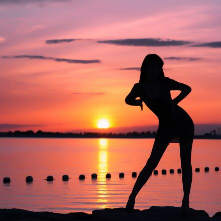 profile, sunset, sunshine, Pentax K-5 II S