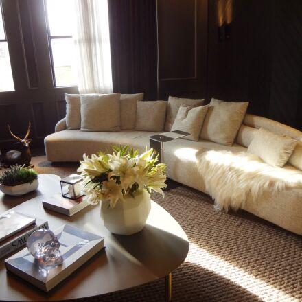 sofa, living room, decoration, Sony DSC-WX9