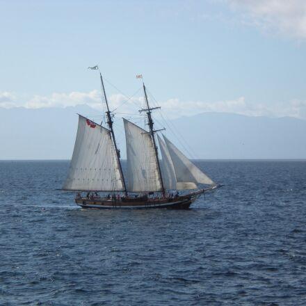 schooner, sailing, sea, Nikon COOLPIX S210