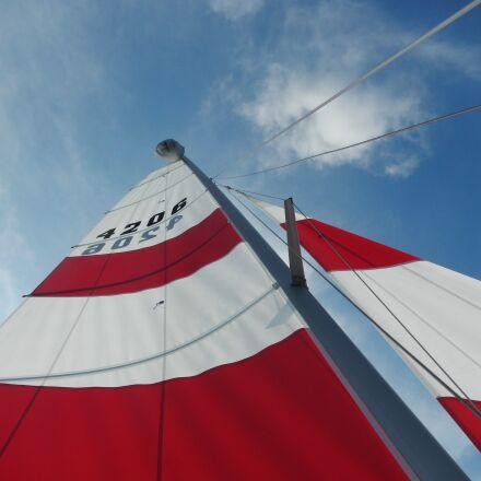 sail, red, marine, Nikon COOLPIX AW100