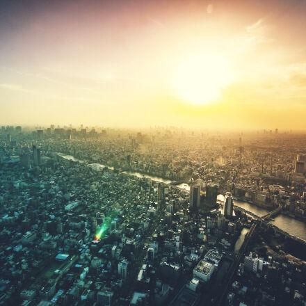 city, sky, sunset, clouds, Canon EOS 70D