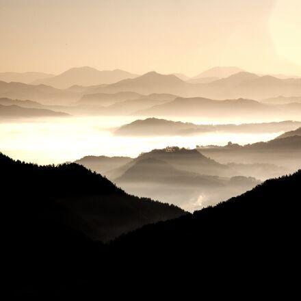 mountain, oriental, cloud, Canon EOS 5D