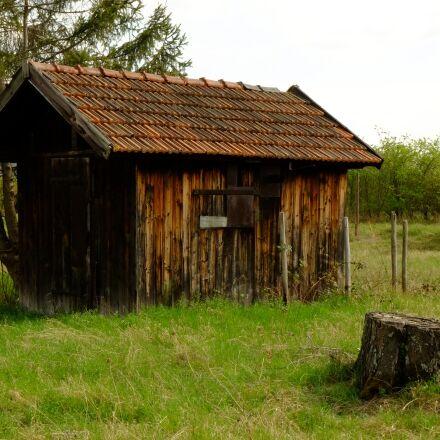 hut, log cabin, wood, Fujifilm X-E1