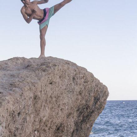 karate, beach, sky, Canon EOS 550D