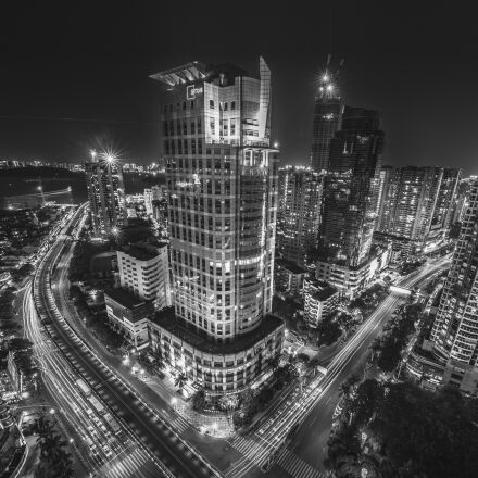 city, buildings, at, night, Nikon D800