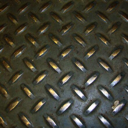 industrial, diamond plate steel, Sony DSC-W230
