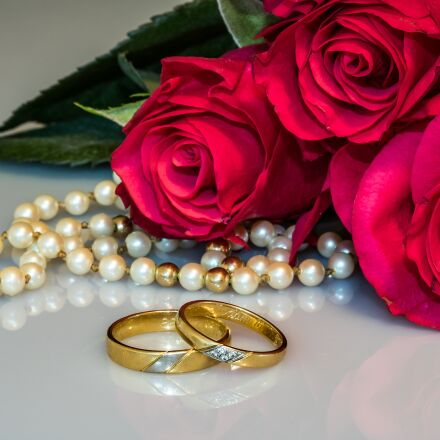 wedding rings, rings, gold, Canon EOS 750D