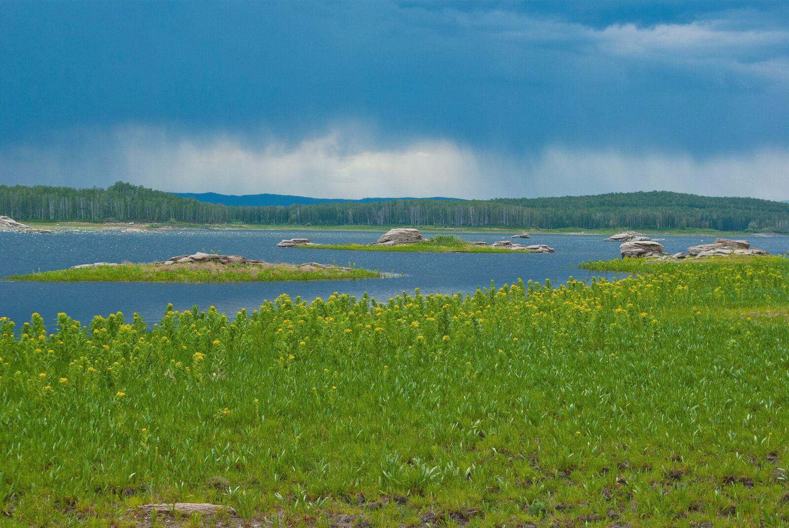 "Pentax K10D sample photo. ""Summer, lake, water"" photography"