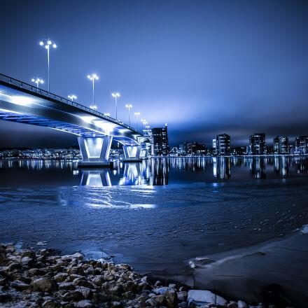 architecture, blue, blur, bridge, Nikon D750