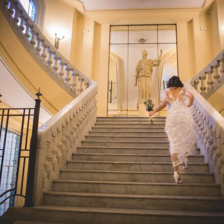 wedding, women, stairs, Canon EOS 6D