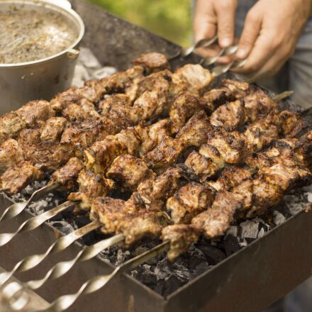meat, grill, shish kebab, Sony SLT-A65