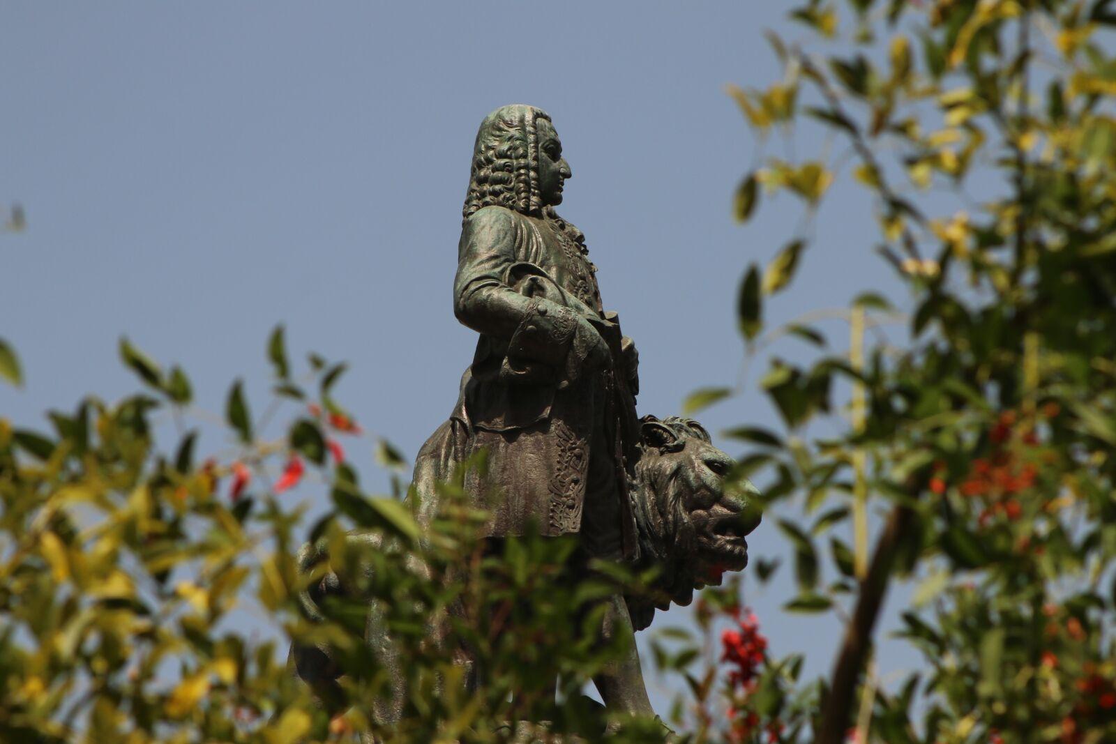 "Canon EOS 70D sample photo. ""Lisbon, statue, the marquis"" photography"