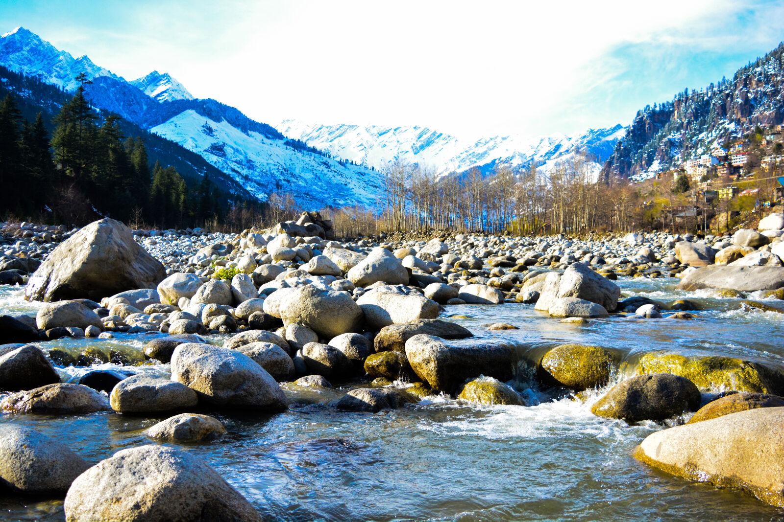 "Nikon D5200 sample photo. ""Blue, mountains, frozen, lake"" photography"