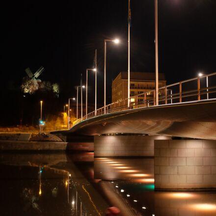 turku, mill bridge, evening, Fujifilm X100S