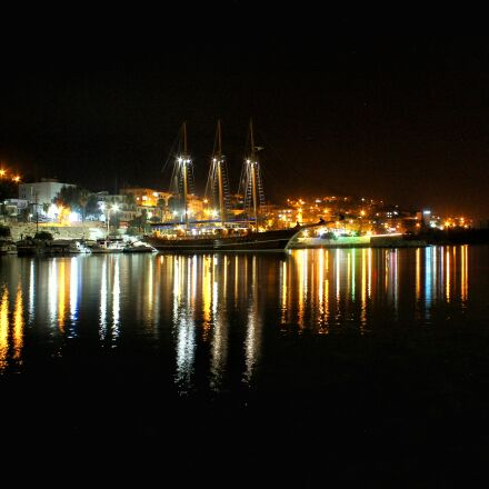 dark, port, sea, yachts, Canon EOS 600D