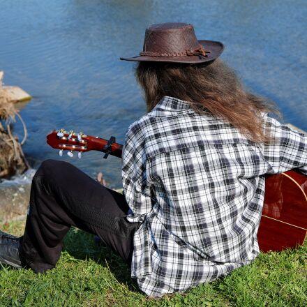 guitar player, musician, instrument, Fujifilm X-T10