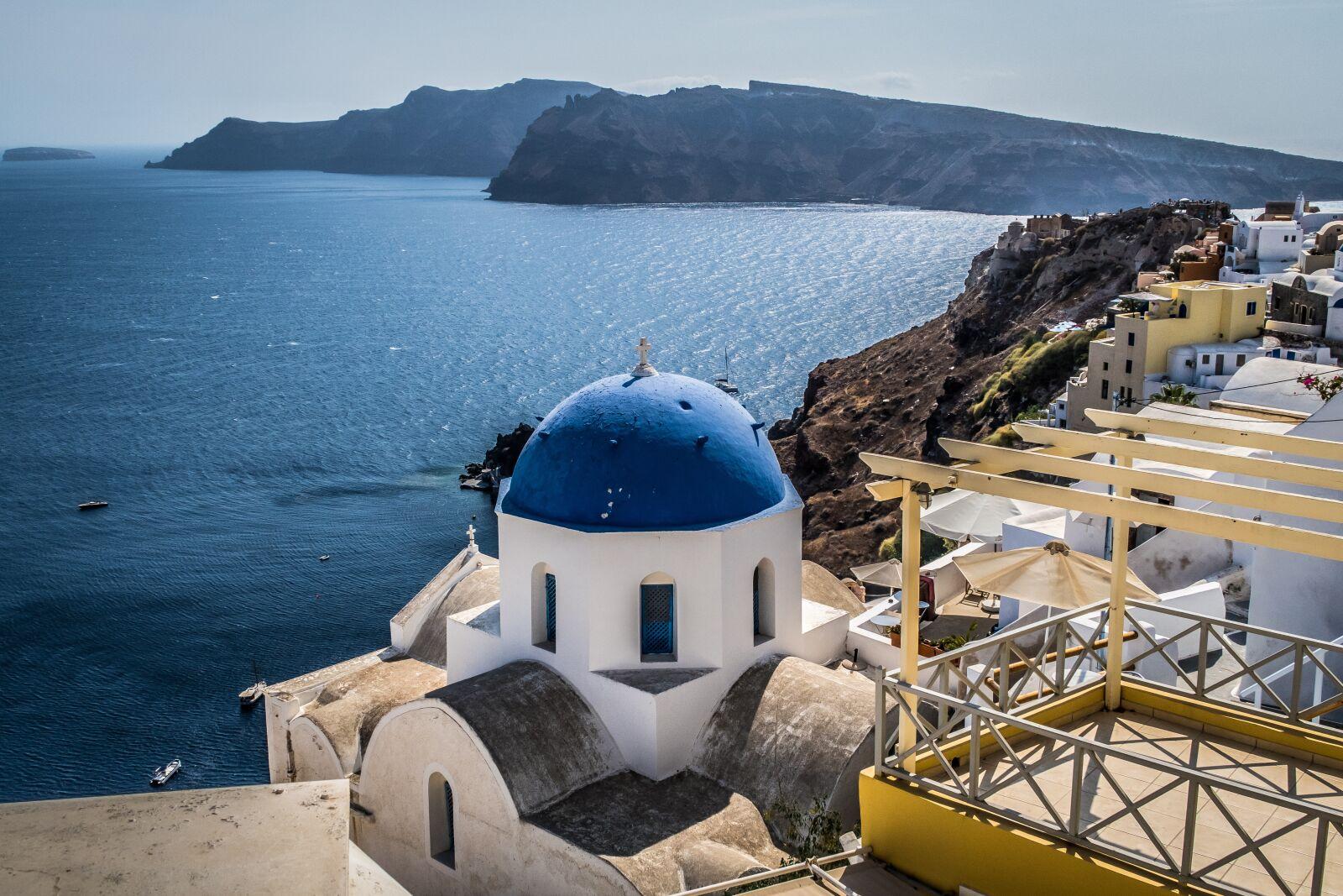 "Canon PowerShot G7 X Mark II sample photo. ""Greece, santorini, dome"" photography"
