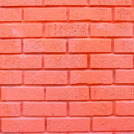 brick background, orange, painted, Panasonic DMC-FZ60
